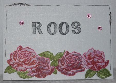Gemaakt door Sophie # Verjaardagskaart voor Roos