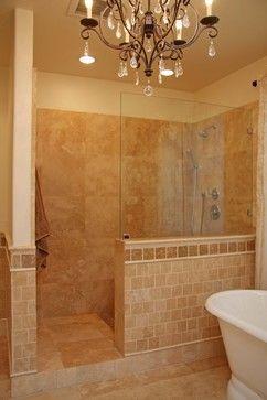 Pin By Colleen Gerstenkorn On Bath Showers Without Doors Bathroom Shower Doors Tile Walk In Shower