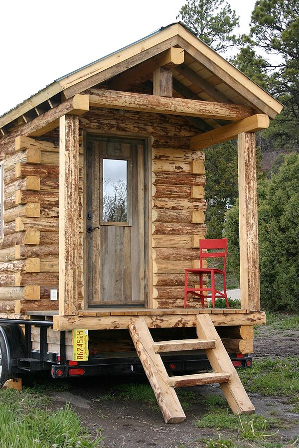 Do It Yourself Home Design: This Small Cabin Can Be Moved When You Want A New View Or