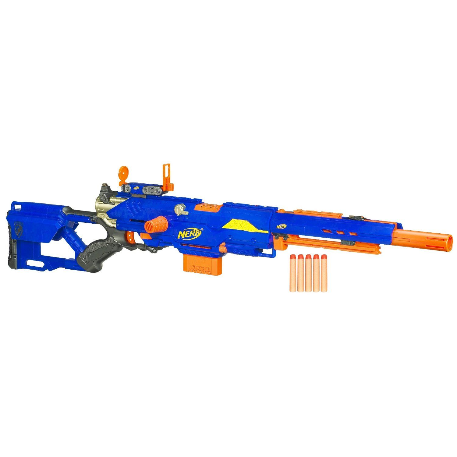 NEW - NERF N STRIKE LONGSHOT CS-6 & LONGSTRIKE CS-6. Nerf GunSniper RiflesToys  R UsNerf ...