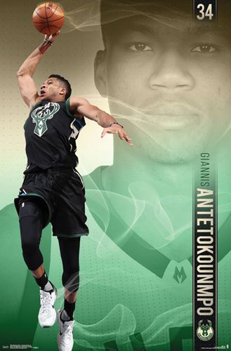 Trends International Milwaukee Bucks Giannis Antetokounmpo Wall Poster X