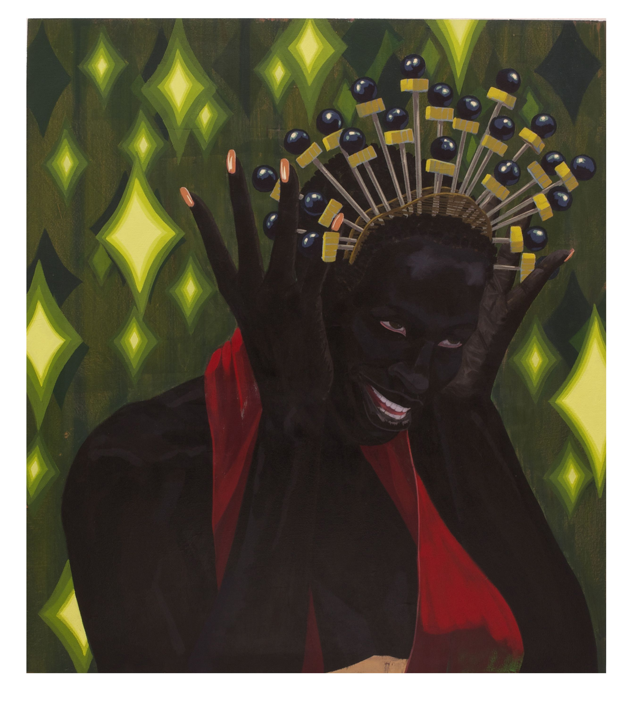 """Kerry James Marshall, Untitled (Crowning Moment), 2014 Acrylic on PVC panel. David Zwirner Marshall challenges the marginalization of African-Americans through his work, whose central protagonists are, in his words, """"unequivocally, emphatically black."""" """"You can't be born in Birmingham, Alabama, in 1955 and grow up in South Central [LA] near the Black Panthers headquarters, and not feel like you've got some kind of social responsibility."""""""