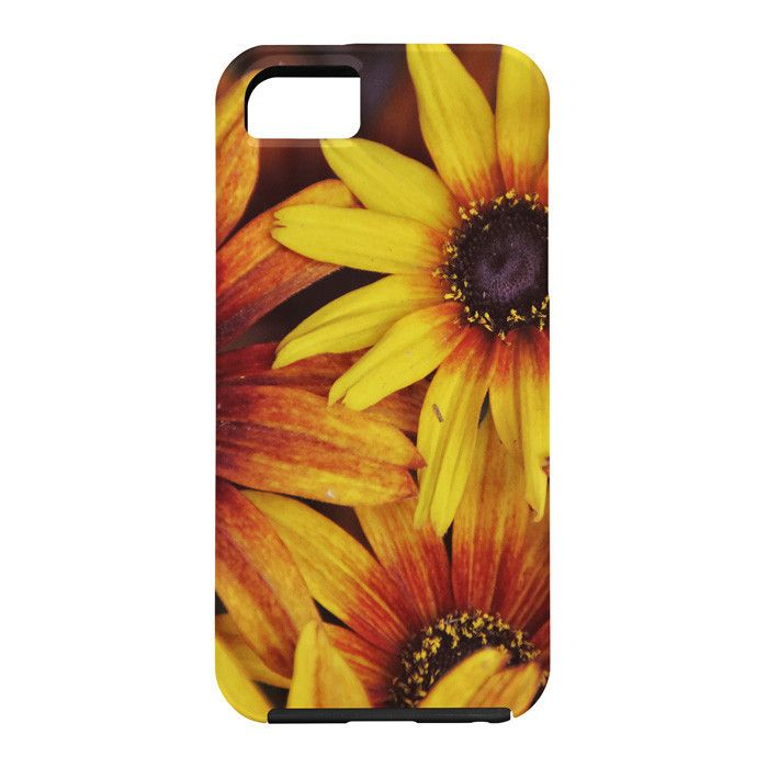 Shannon Clark Sunshine Petals Cell Phone Case | DENY Designs Home Accessories #floral  #orange #yellow