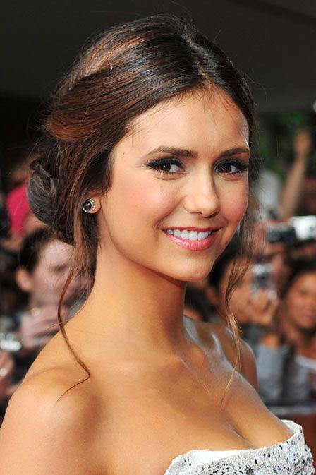 Check Out the Little Move That Made Nina Dobrev s Bun Look All  Fairy-Tale-Princess-y Here  Girls in the Beauty Department d1af5f46a184