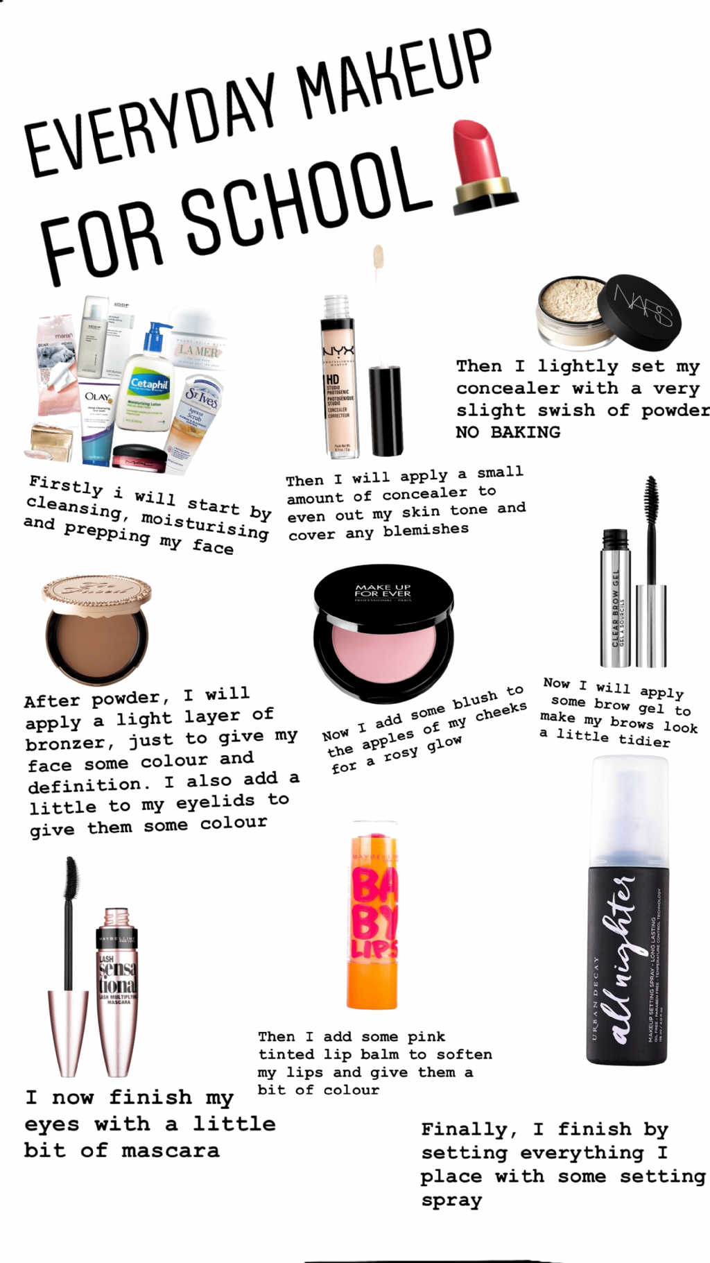 Everyday skincare and makeup routine for teens and adults