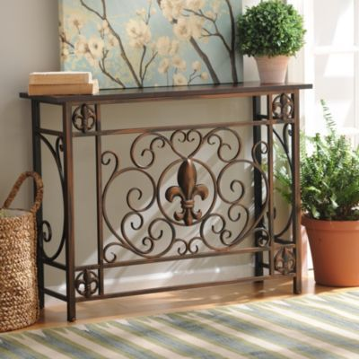 Add A Functional Touch Of French Charm To Any Room With This Fleur De Lis  Console Table.