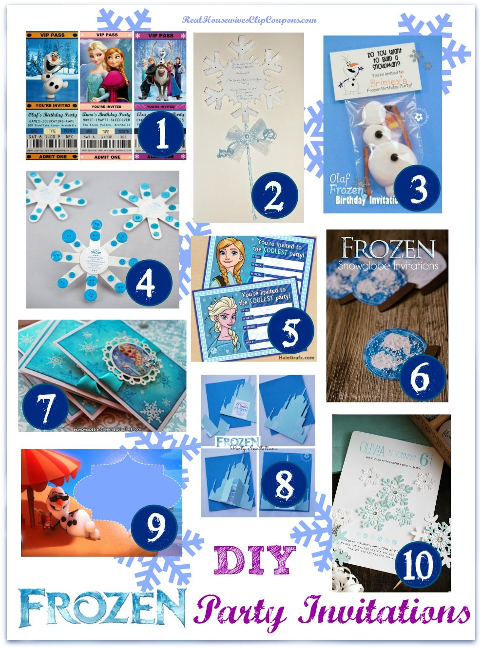 DIY Frozen Party Invitations | Party invitations, Frozen party and ...