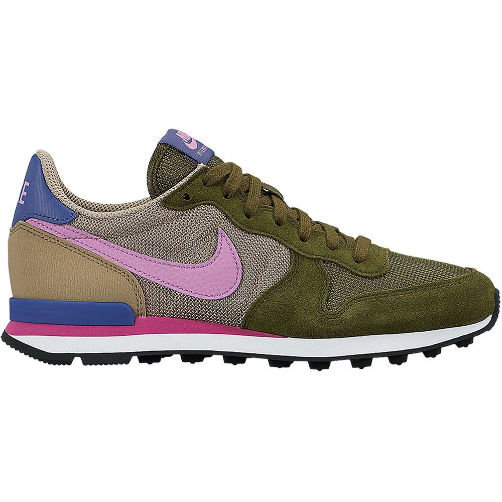 nike internationalist damen retro sneaker gr n pink. Black Bedroom Furniture Sets. Home Design Ideas