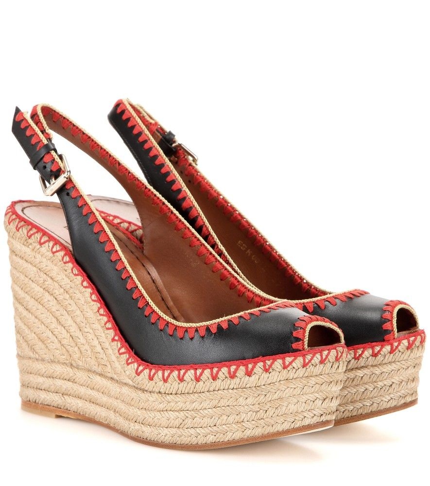 Valentino Peep-Toe Slingback Wedges sale Inexpensive outlet latest free shipping outlet locations uWzf2WadUI