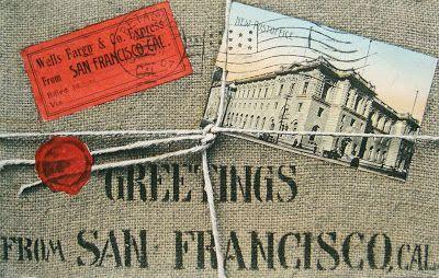 postcardiva postcard blog: SAN FRANCISCO POSTER STYLE POSTCARDS