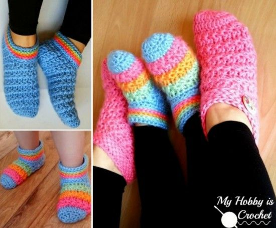 Crochet Slippers Best Collection Crocheted Slippers Free Pattern