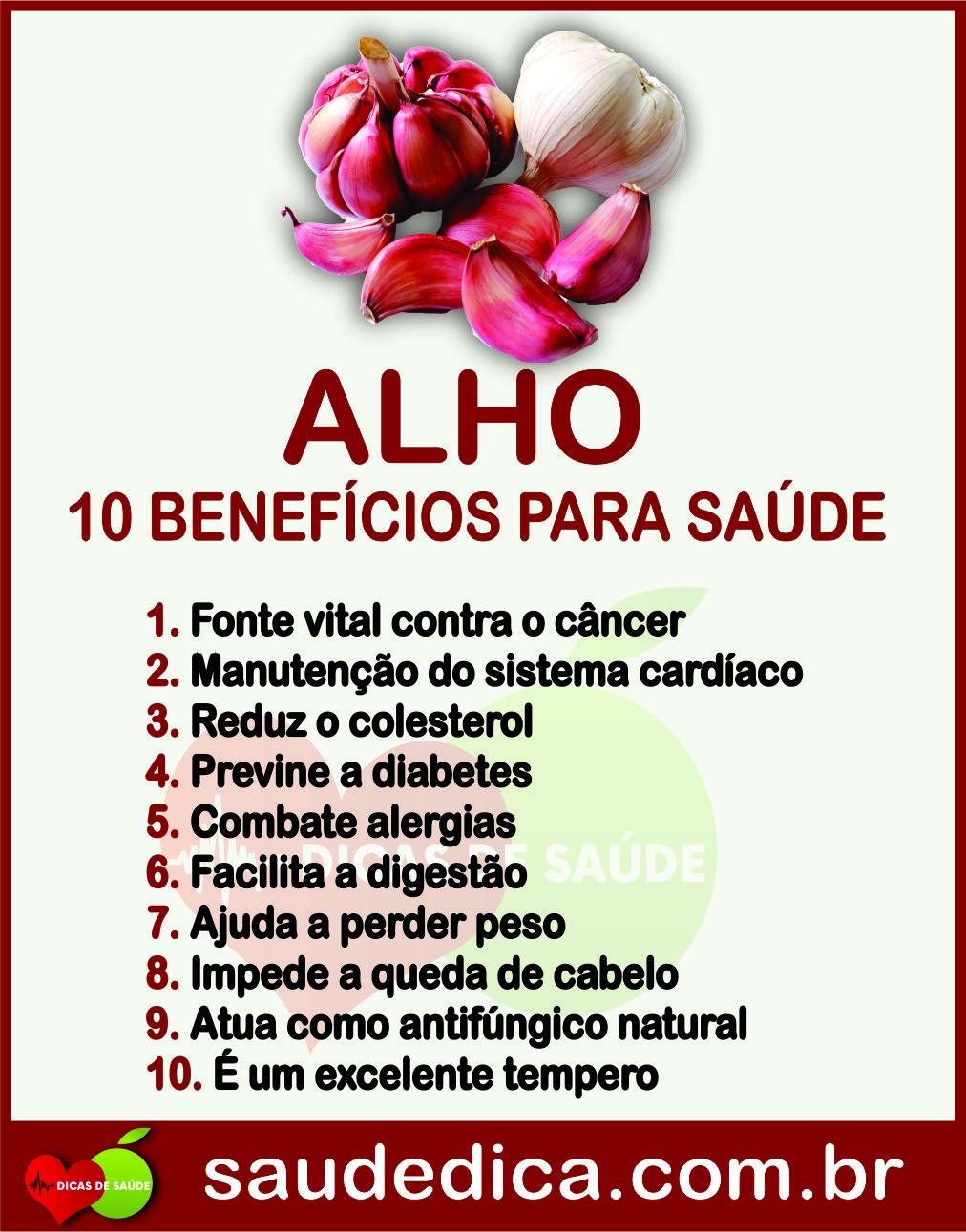 Os 10 Beneficios Do Alho Para Saude Alho Alhobeneficios