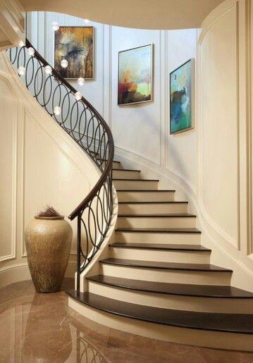 7 Stylish Staircases Wrought Iron Stair Railing Modern Stair