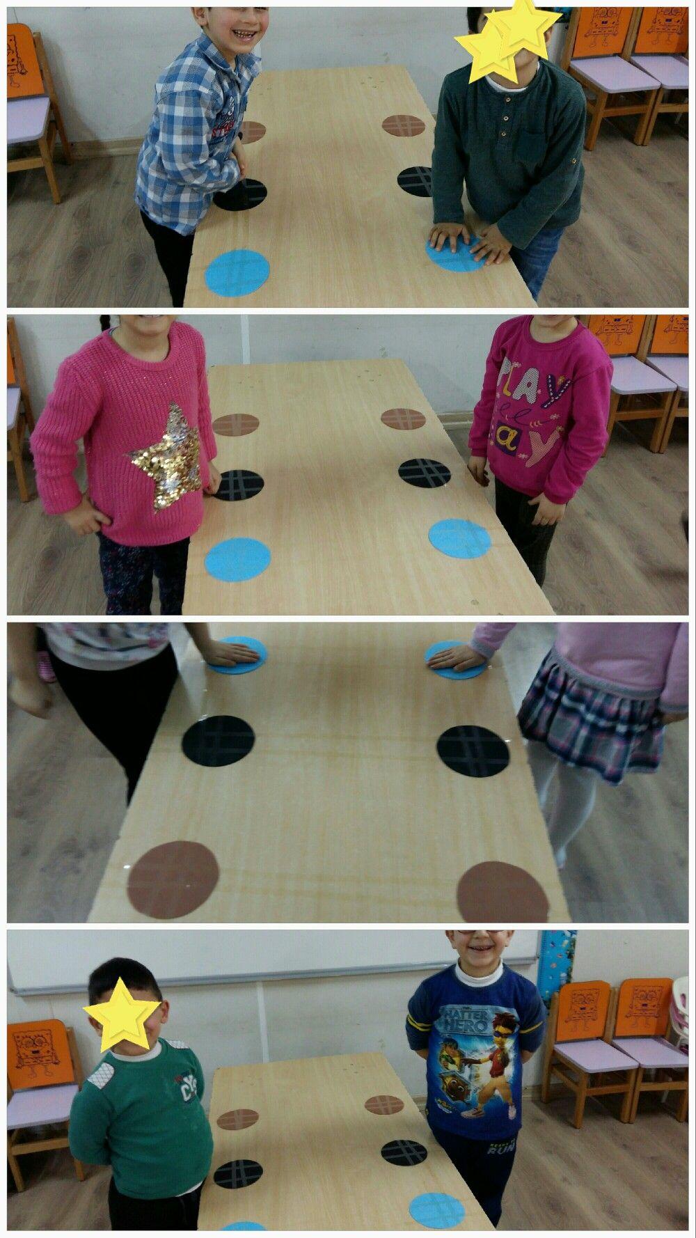 Oyun Daire Renkleri Istediginiz Renkler Olabilir Oyun Cok Basit Dikkat Leri Toplayip Hangi Renk Denildiyse O Renge Ellerini Koya Oyun Renkler Okul Oncesi