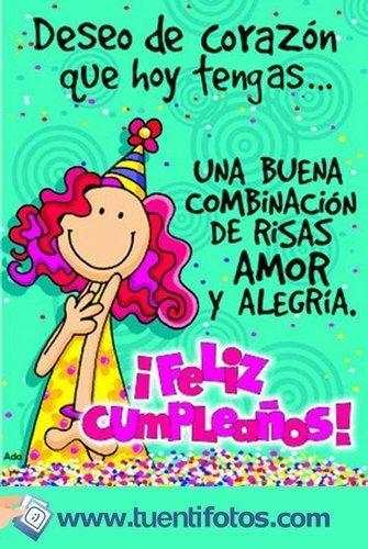 feliz cumpleaños amiga querida Imagenes de Diseños Pinterest Frases and Happy birthday