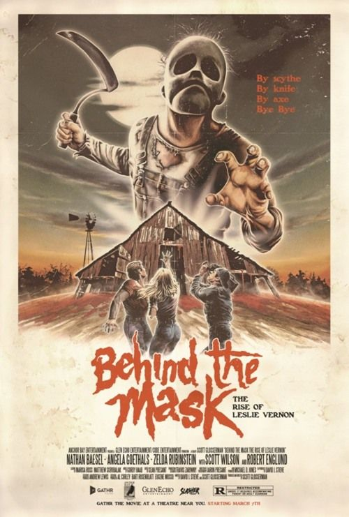 Behind the Mask: The Rise of Leslie Vernon (2006) (retro 80s style poster) by Justin Osbourne