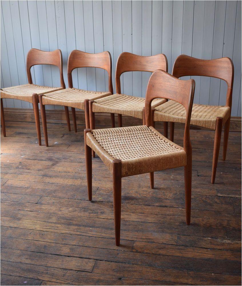 Wooden Captains Chairs Vintage Arne Hovmand Olsen Mk Teak Danish Dining Chairs Original Danish Dining Chairs Teak Dining Chairs Dining Chairs