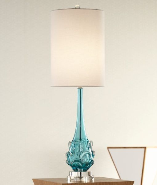Possini Euro Dinah Glass Bubble Table Lamp   Beachfront Decor Good Ideas