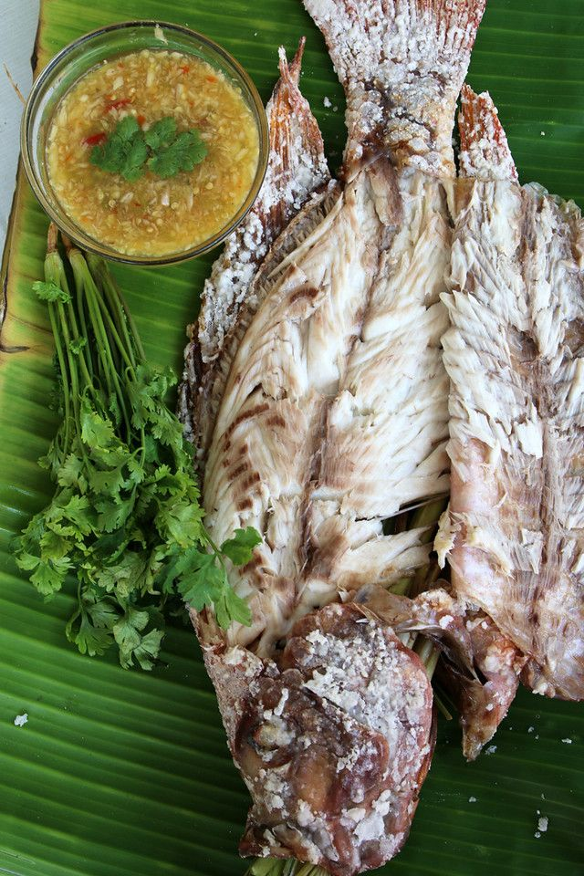 Thai grilled fish recipe pla pao recipe for Thai fish recipe