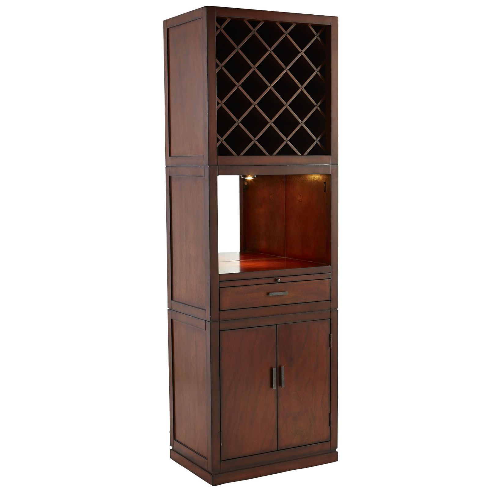 Harvey 3-Piece Bar Cabinet - Tobacco Brown | Pier 1 Imports | Bar ...