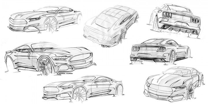 Mustang sketches by Kemal Curic.
