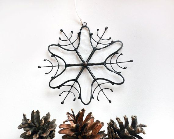 Stained Glass Christmas Ornaments, Clear Snowflake Decoration, Ice