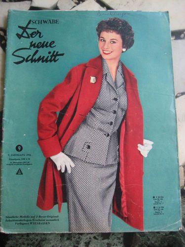 Der Neue Schnitt Heft 9 1956 vintage Schnittmuster Moden Zeitung ...