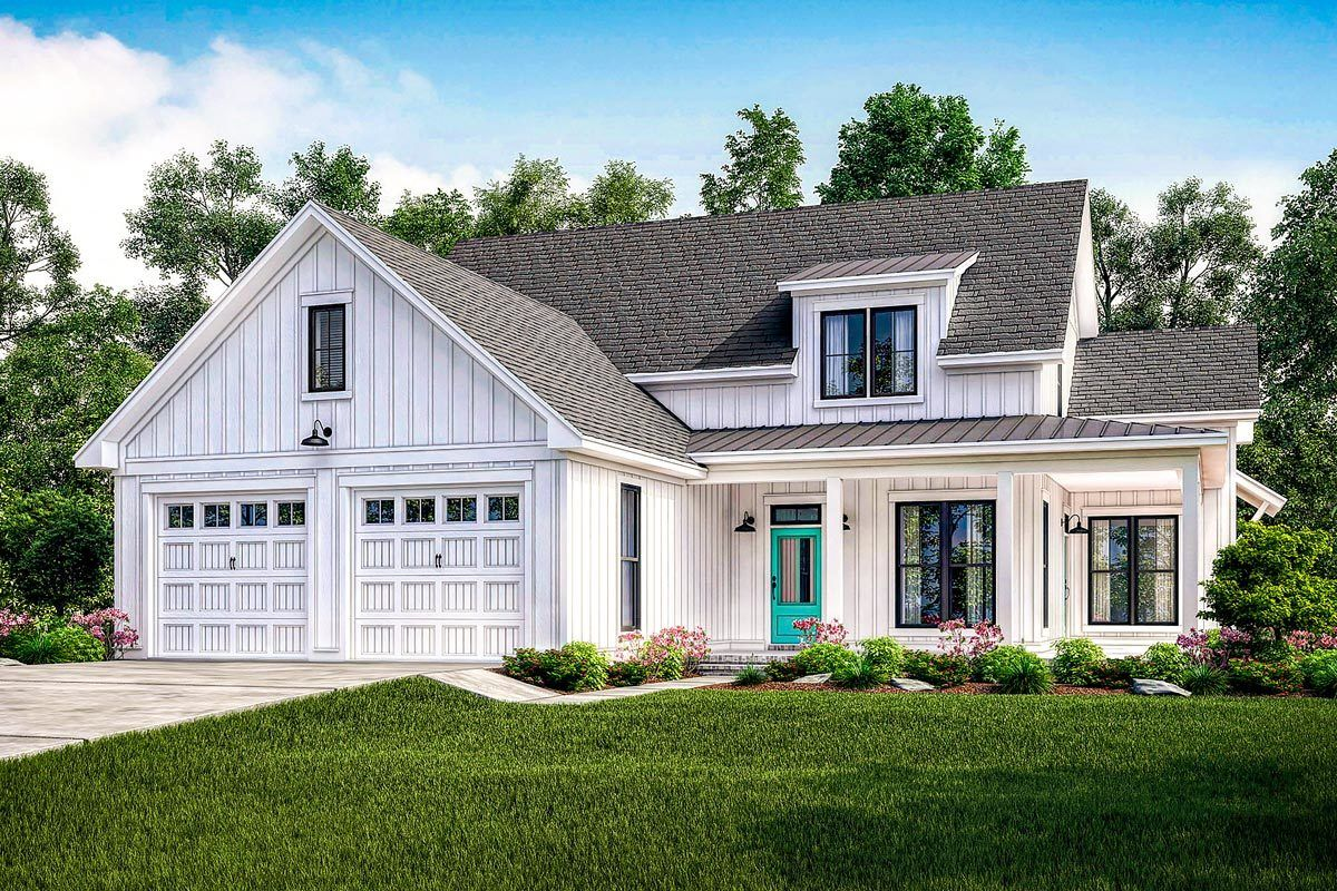 Exclusive Modern Farmhouse Plan With Flexible Upstairs   51765HZ | Architectural  Designs   House Plans