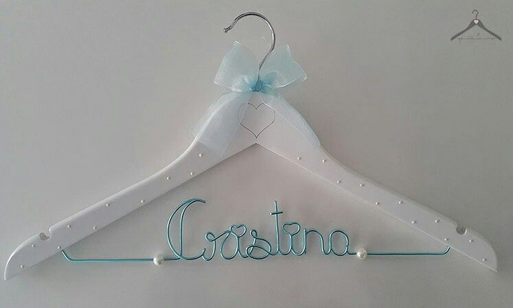 Percha personalizada para novia | perchas DIY | Pinterest | Perchas ...