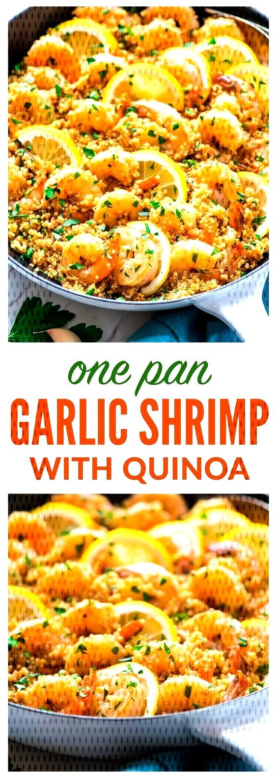 Garlic Shrimp with Quinoa - Garlic Shrimp with Quinoa — Easy, quick, and delicious! Healthy reci