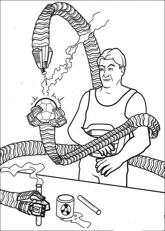 spiderman målarbilder för barn teckningar online till