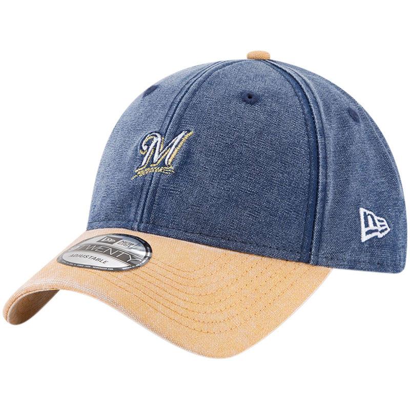 40cf07e46372a1 Milwaukee Brewers New Era Rugged 9TWENTY Adjustable Hat - Navy ...