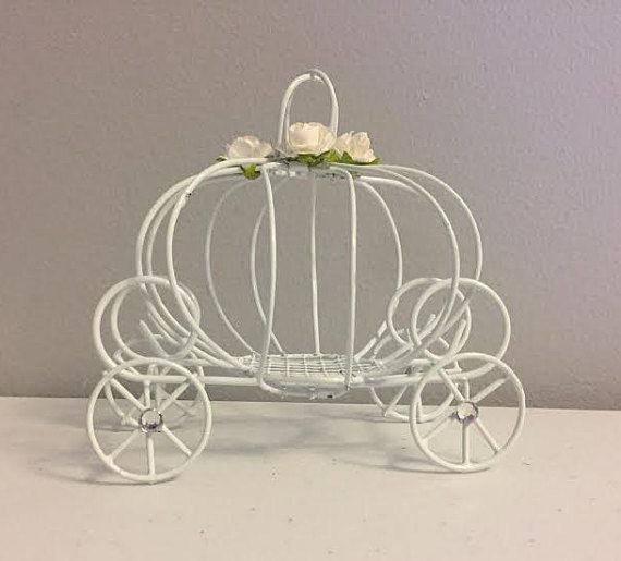 Decorated Cinderella Pumpkin Carriage Princess Wedding Favor Box Decorations Candle Holder Or Baby Shower