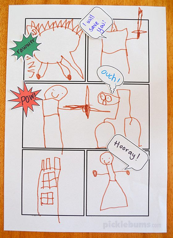 Free Printable Comic Book Templates Free printable, Literacy and - comic book template