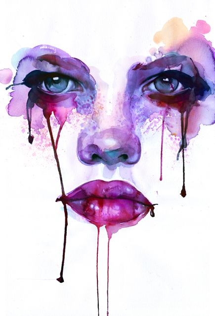 This Is Just Gorgeous Modern Watercolour Painting Purple Art