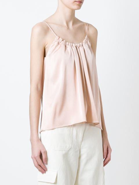Helmut Lang top estilo camisola fruncido