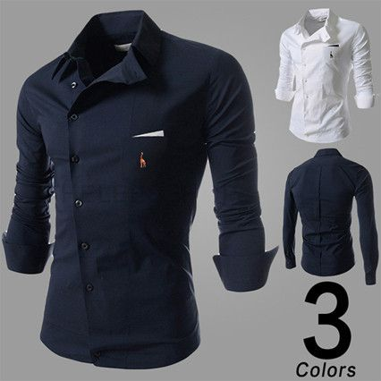 New Design Mens Asymmetric Button Down Shirt | Sneak Outfitters ...