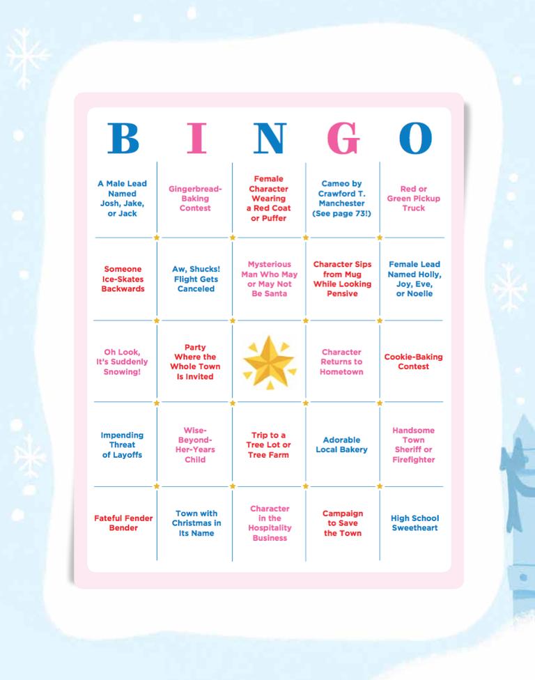Hallmark Christmas Movies Bingo Cards
