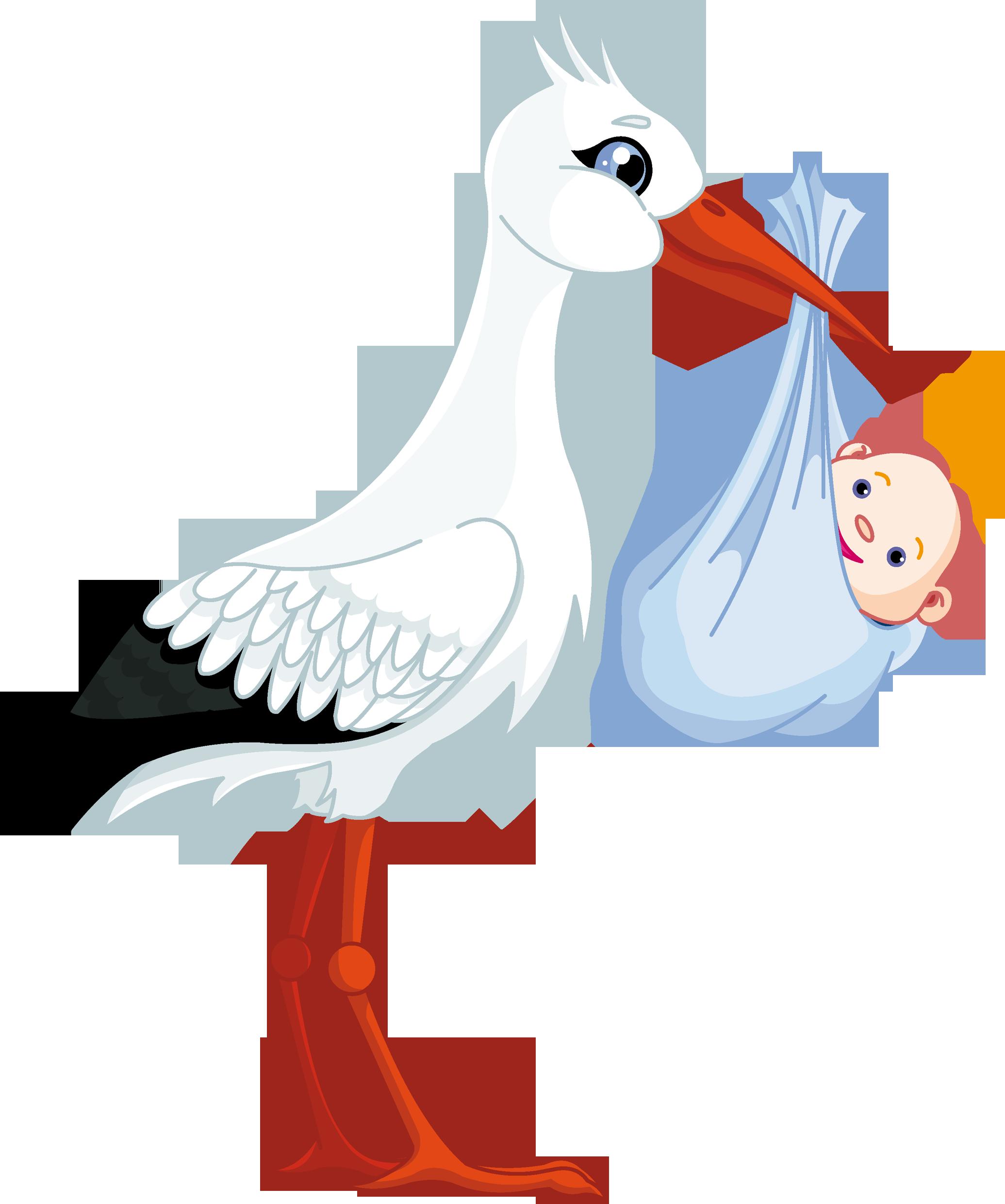 Открытки аист с младенцем