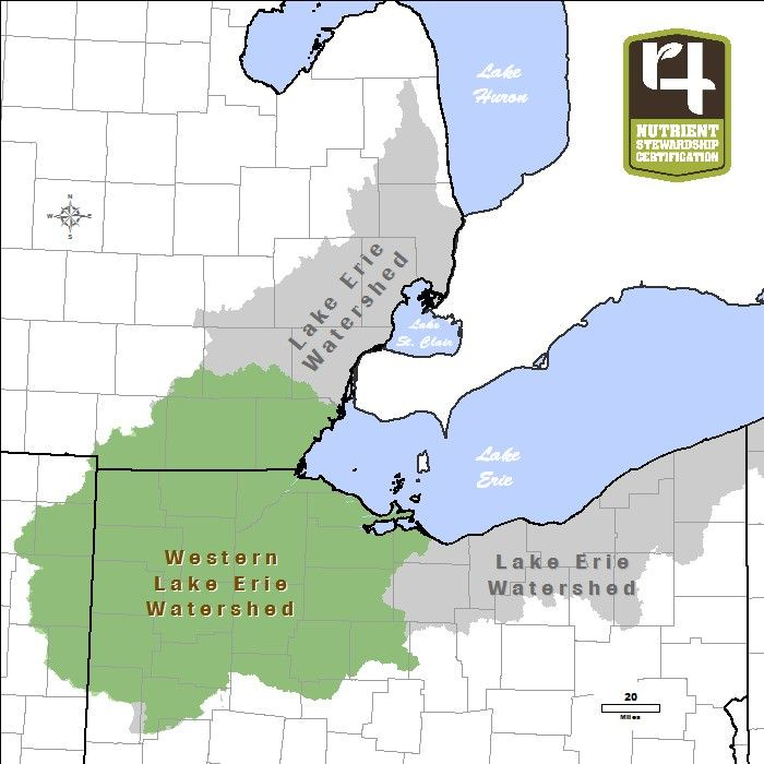 western lake erie map View A Map Of Lake Erie Western Basin Watershed Lake Lake Erie western lake erie map