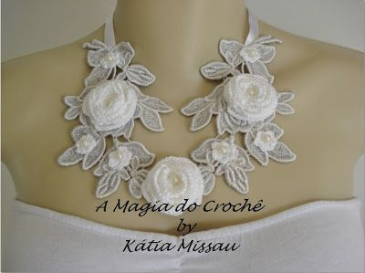 A MAGIA DO CROCHÊ - Katia Missau: Colar Angel