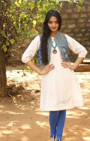 White Kurti With Jacket Clothes For Women Dress Collection Kurti With Jacket