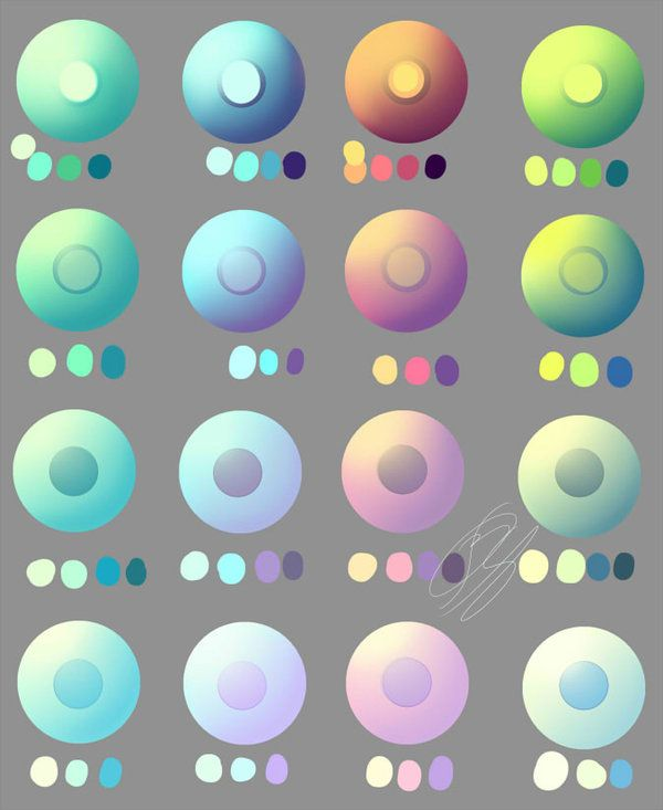 Pastel And Non Pastel Eye Swatches By Overlord Jinral On Deviantart Palette Art Color Palette Challenge Skin Color Palette