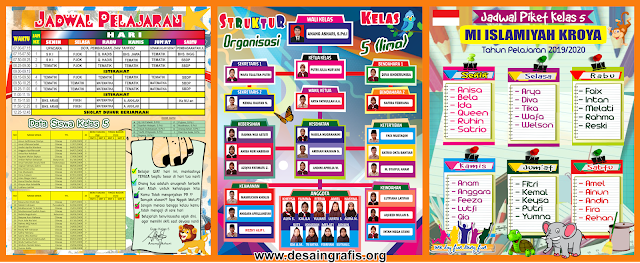 Desain Banner Jadwal Pelajaran Menarik Unik Keren | Desain ...