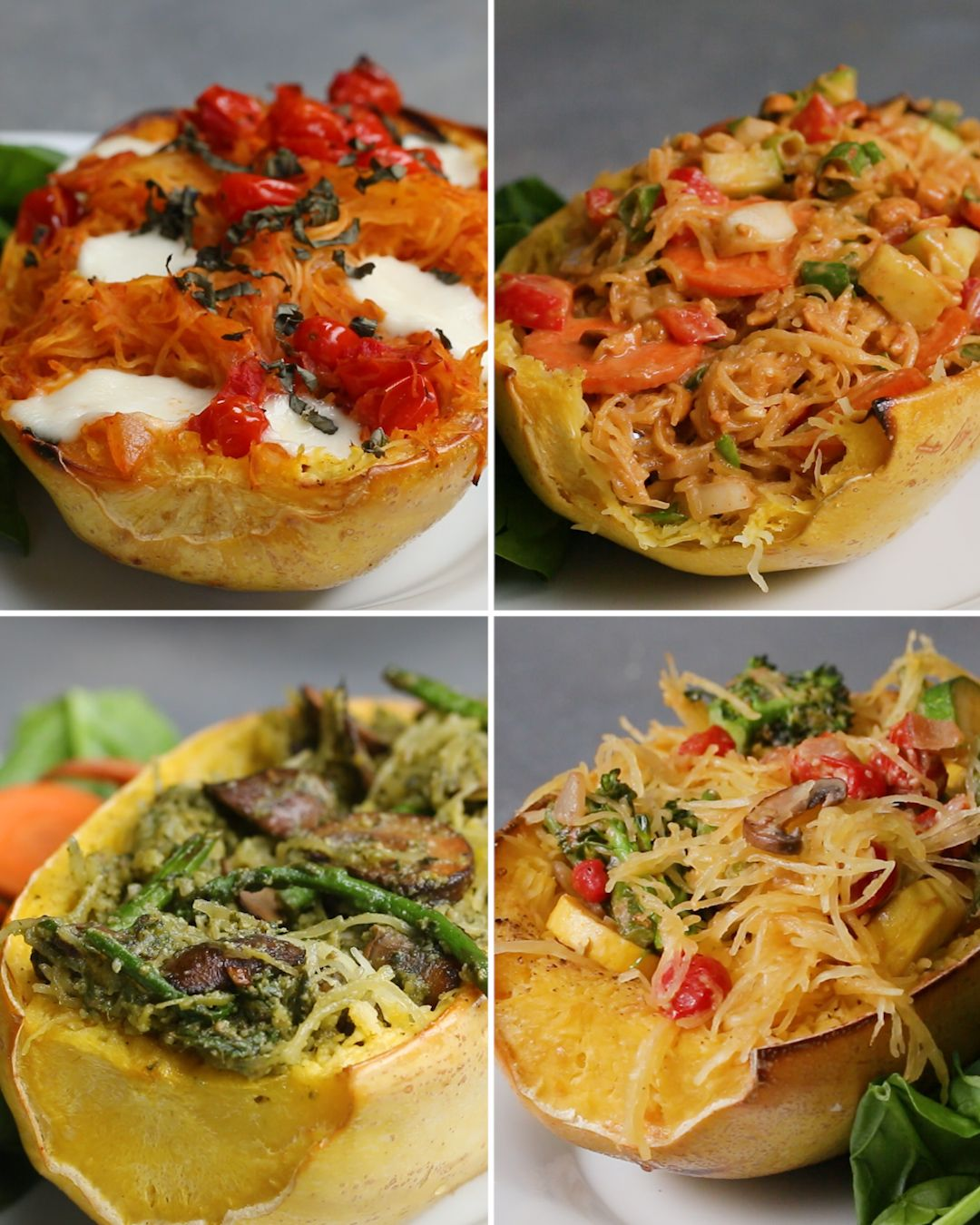 Spaghetti Squash 4 Ways Easy Dinner For 2 Vegan And
