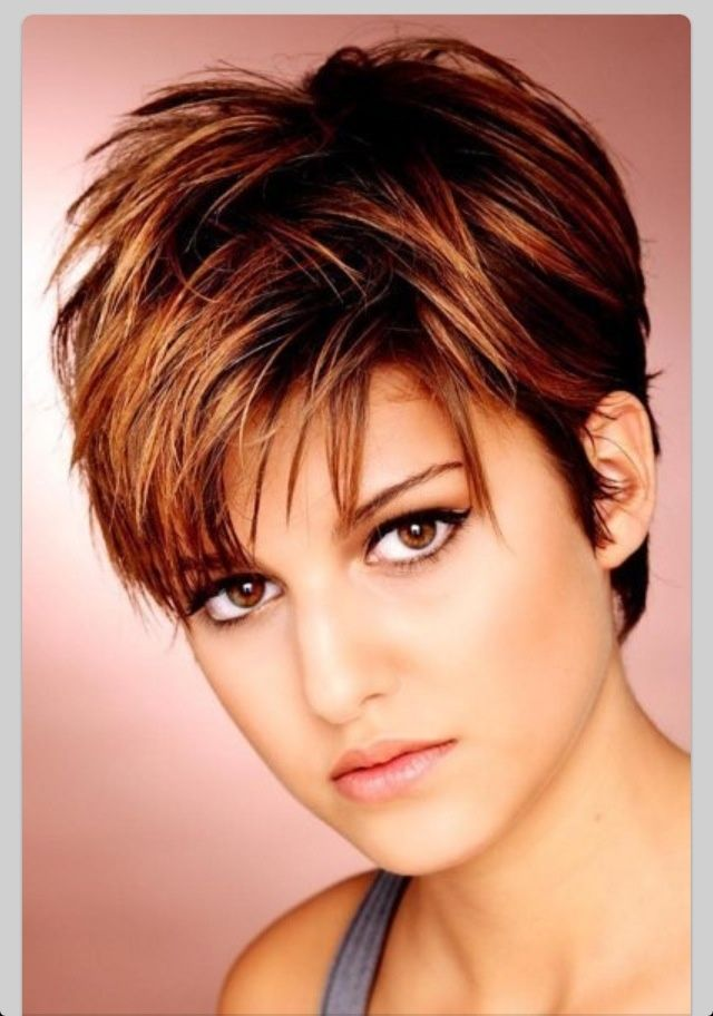 Short Hairstyles For Round Faces The Short Styles Now Are Made To Make Older Women Look Younger Description Very Short Hair Hair Styles Short Hair With Layers