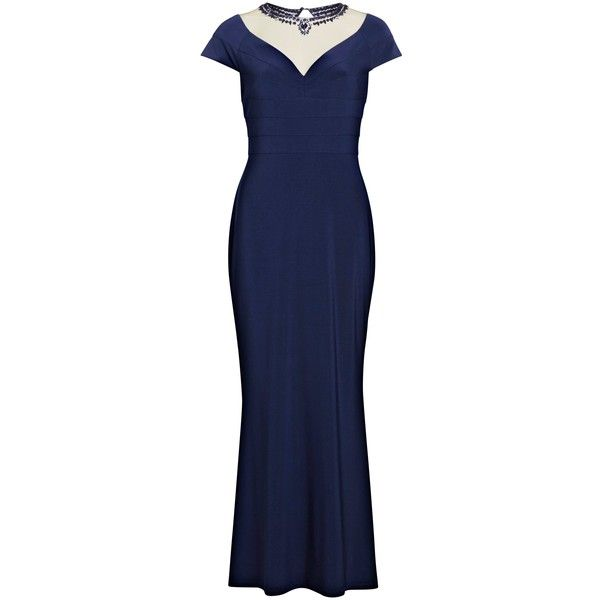 Womens Beaded Neckline Mesh Maxi Dress Gina Bacconi Discount Find Great Outlet 2018 New Real Cheap Price Zz7gpt6IAH