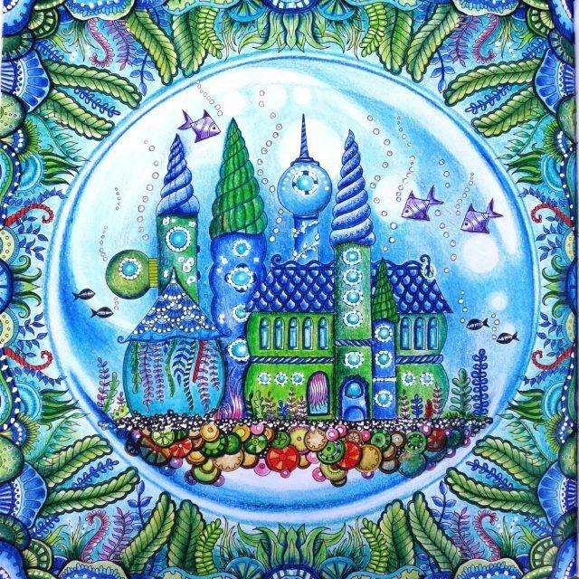 Adi Czech Republic On Instagram Lostocean Johannabasford Mondeluz Art Drawing Kohi Lost Ocean Coloring Book Johanna Basford Coloring Basford Coloring