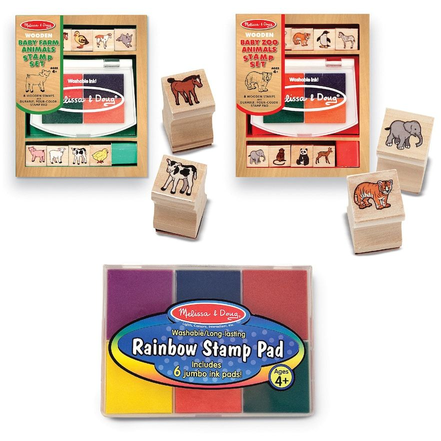 Melissa doug baby zoo farm animals stamp pad set