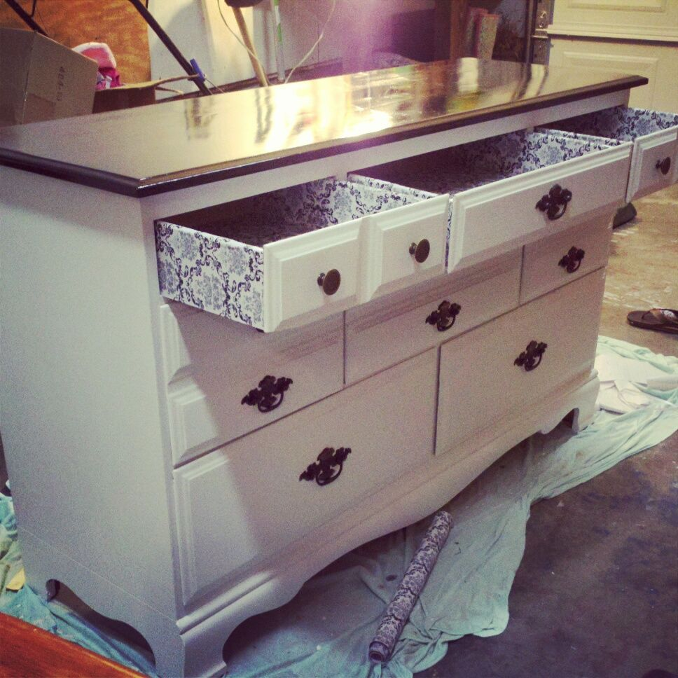 Dresser upcycle for extra kitchen storage!